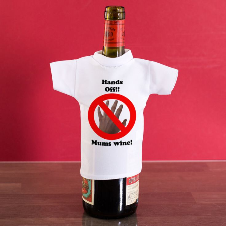 Hands off Personalised Wine Bottle T-Shirt product image