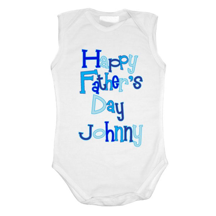 Happy Fathers Day Personalised Baby Grow product image