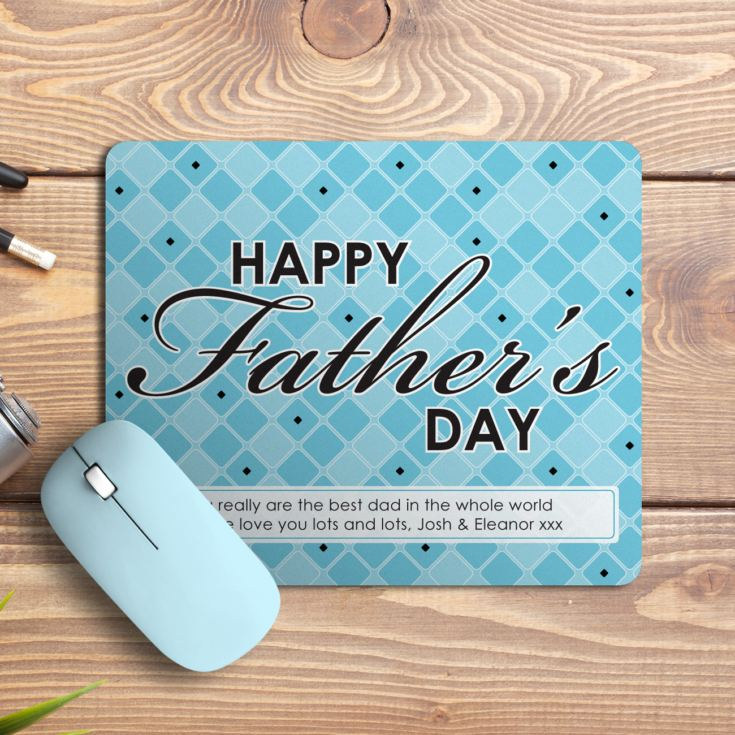Personalised Happy Father's Day Mouse Mat product image