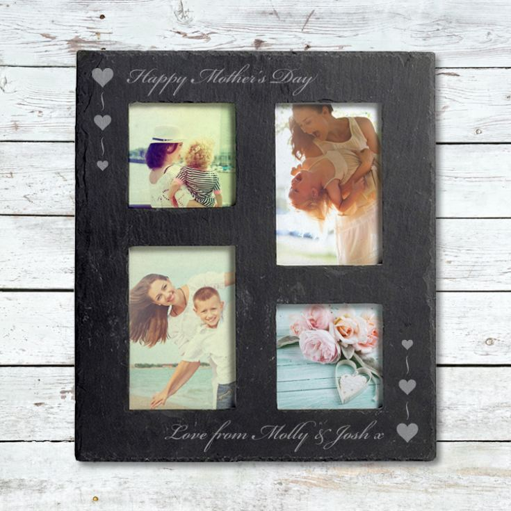 Mother's Day Engraved Slate Collage Photo Frame product image