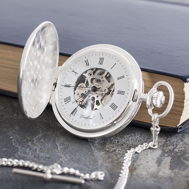 Personalised Sterling Silver Pocket Watch product image