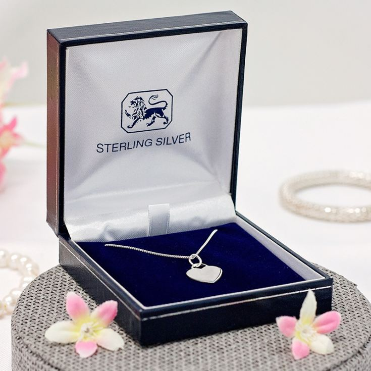 Sterling Silver Heart Pendant in Personalised Gift Box product image