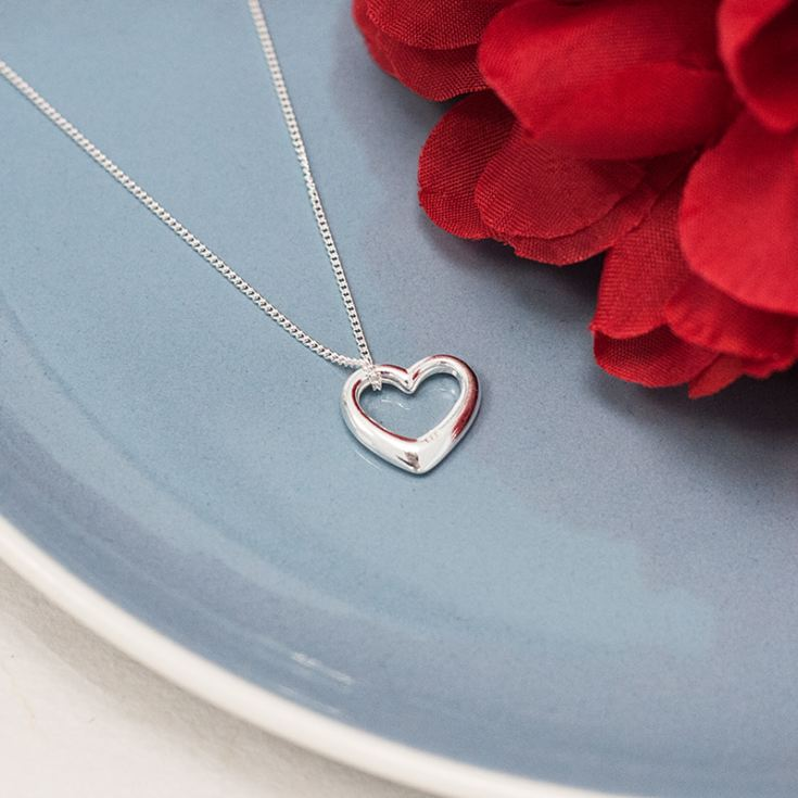 Heart Necklace with Personalised Gift Box product image
