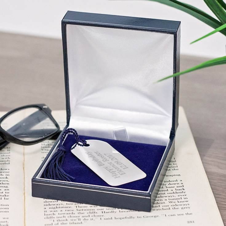 Engraved Silver Plated Bookmark With Tassel product image