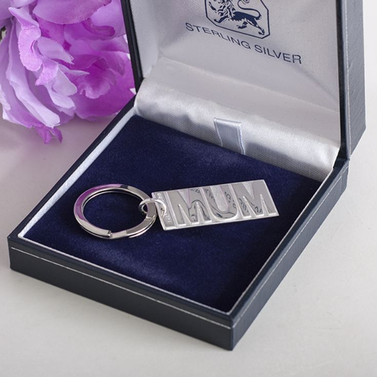 Personalised Sterling Silver Mum Keyring product image