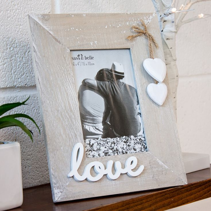 Personalised Ashley Farmhouse Love Standing Photo Frame product image