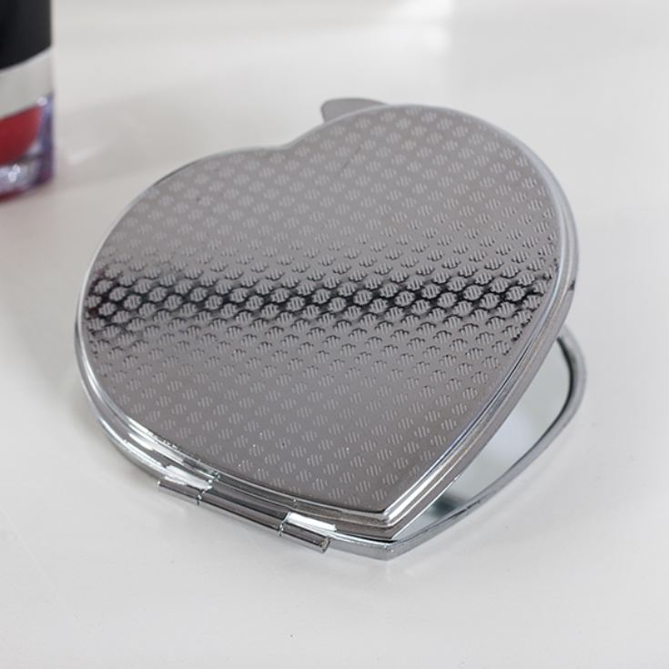 Personalised Valentine's Day Heart Handbag Mirror product image