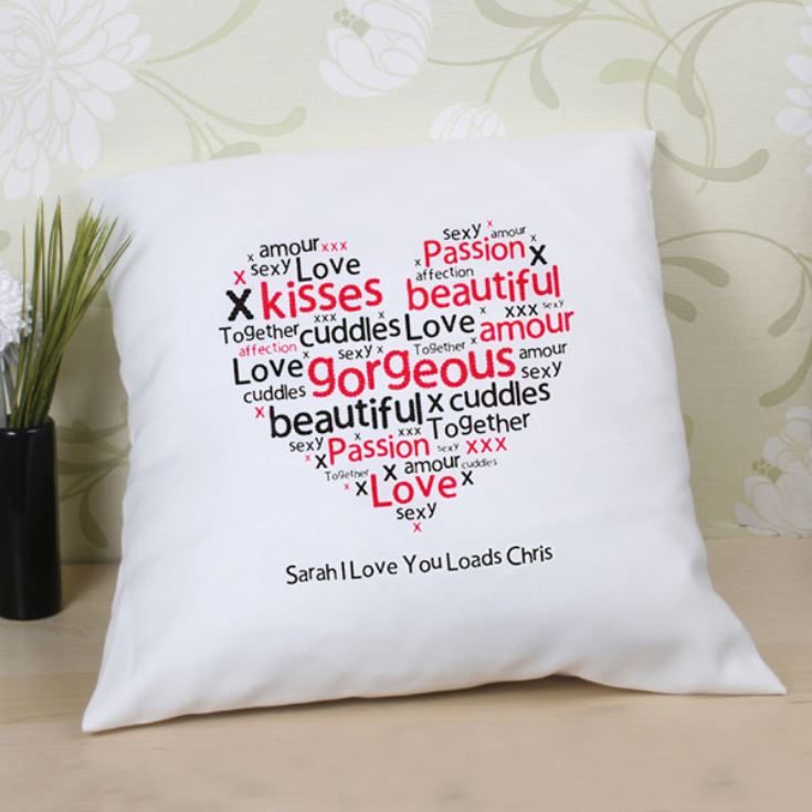 Heart of Words Personalised Cushion product image