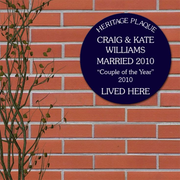 Personalised Spoof Blue Heritage Plaque product image
