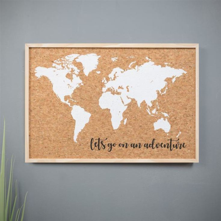 Map Of The World - Cork Pin Board product image