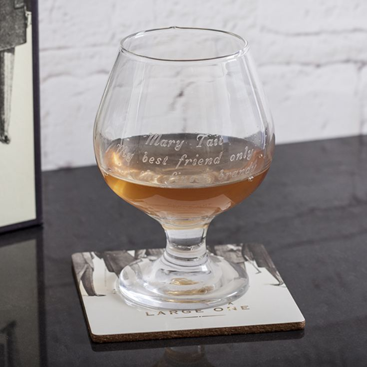 Emporium Collection Personalised Brandy Glass And Coaster Set product image