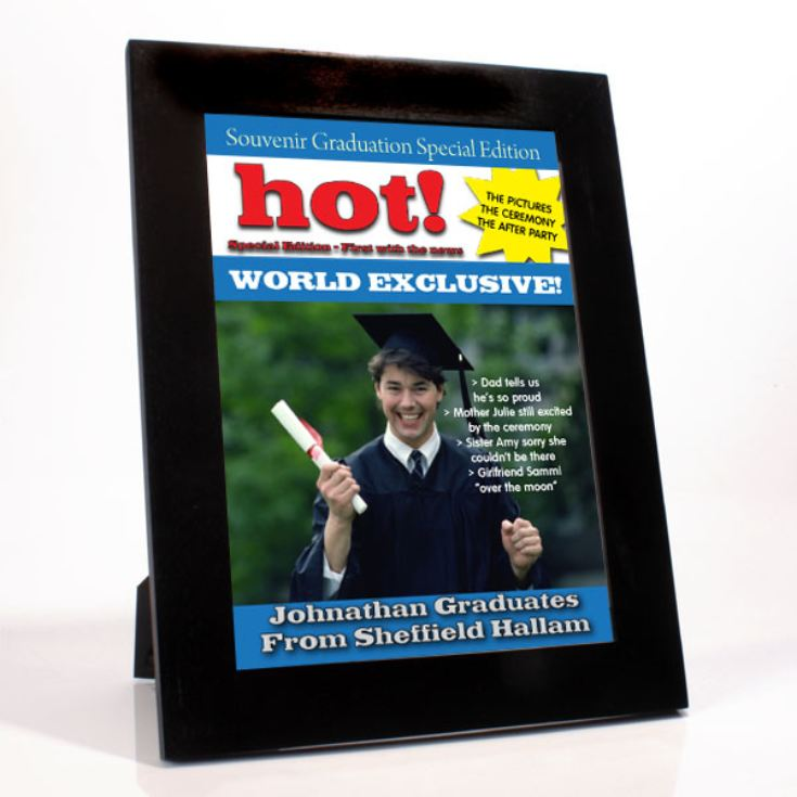 Personalised Graduation Magazine Cover - Male product image