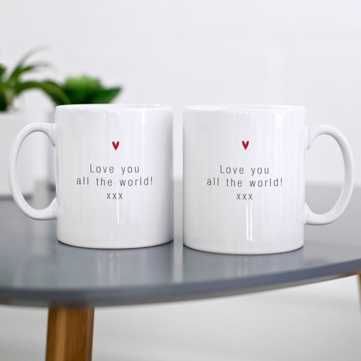 Personalised Hubby & Wifey Pair Of Mugs product image