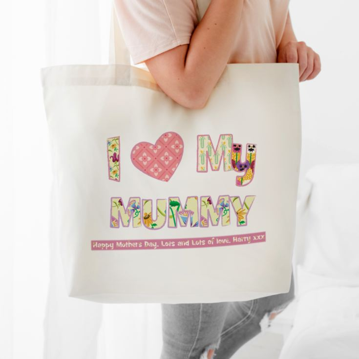 I Heart My Mummy Shopping Tote Bag product image