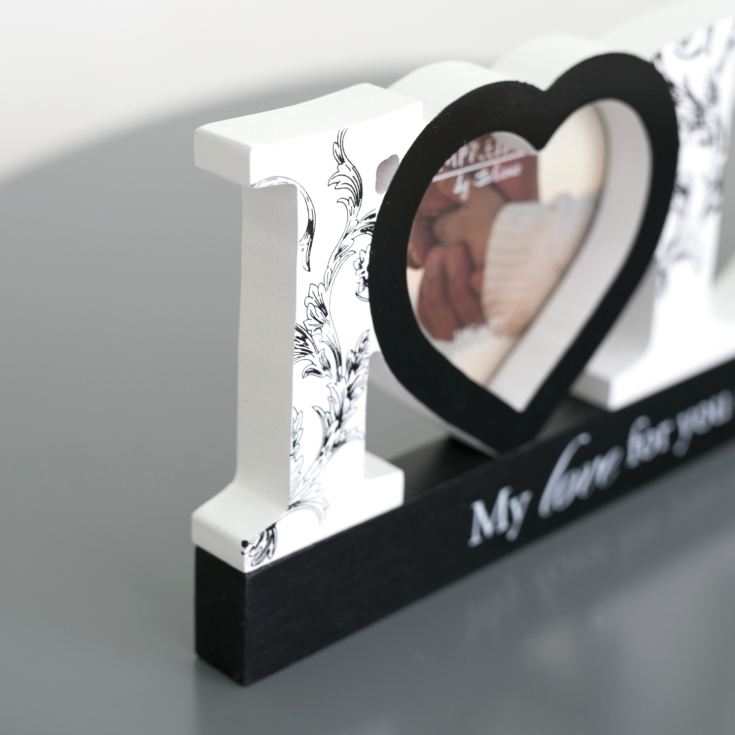 I Love Dad Wooden Mantel Photo Frame product image
