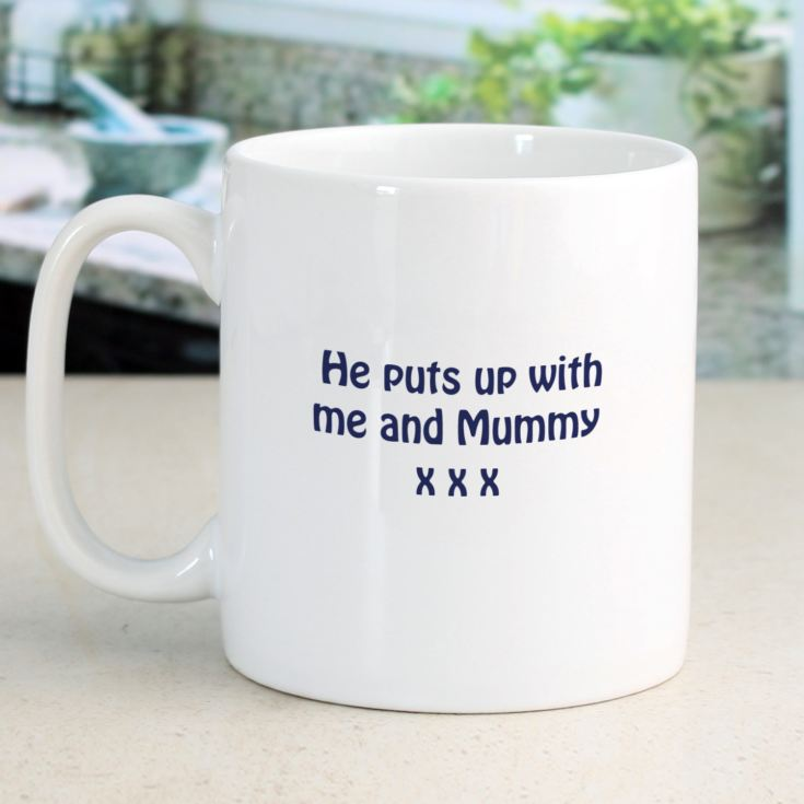 I Love My Dad Because Personalised Mug product image