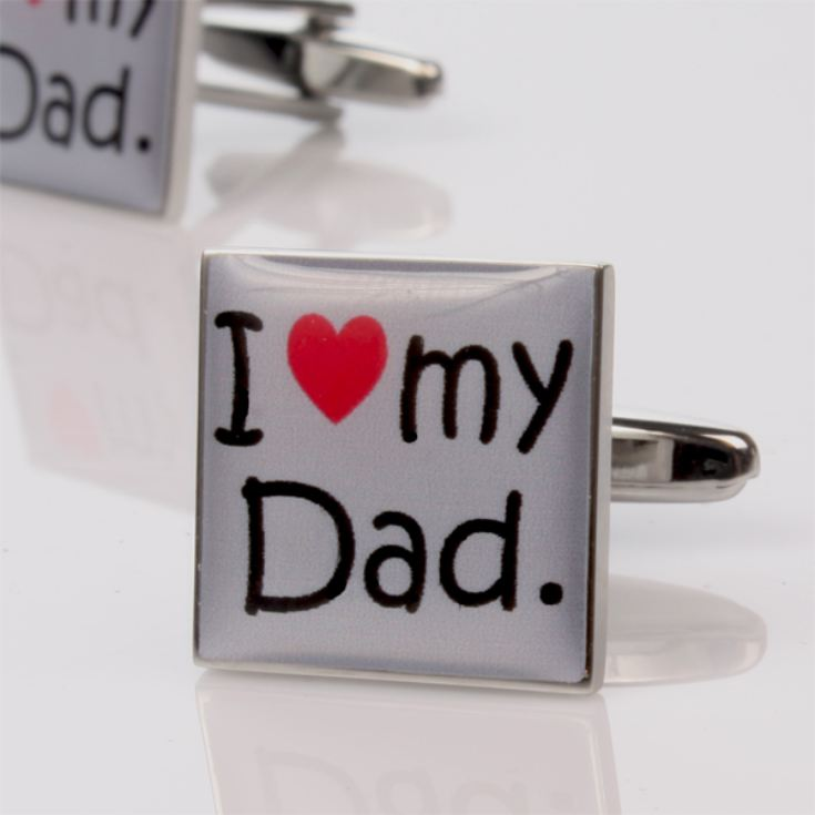 I Love My Dad Cufflinks - Personalised product image