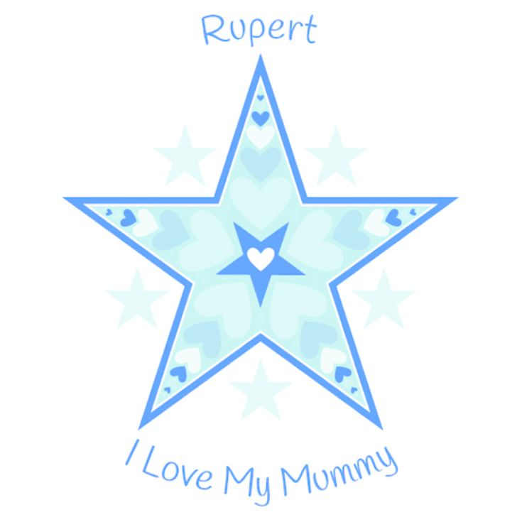 Personalised I Love My Mummy Star Design Baby Grow product image