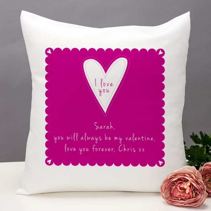 I Love You Personalised Cushion product image