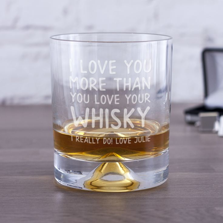 Personalised I Love You More Than Whisky Tumbler product image