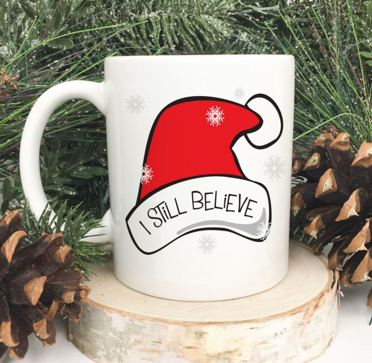 Personalised I Still Believe Santa Hat Mug product image