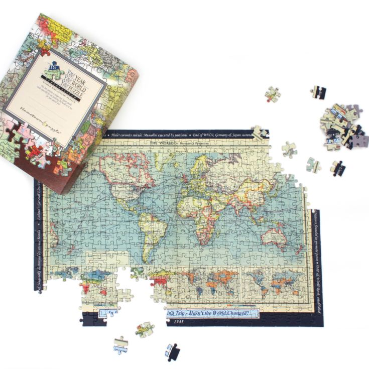 Personalised World Map Jigsaw Puzzle - Your Year Your World product image