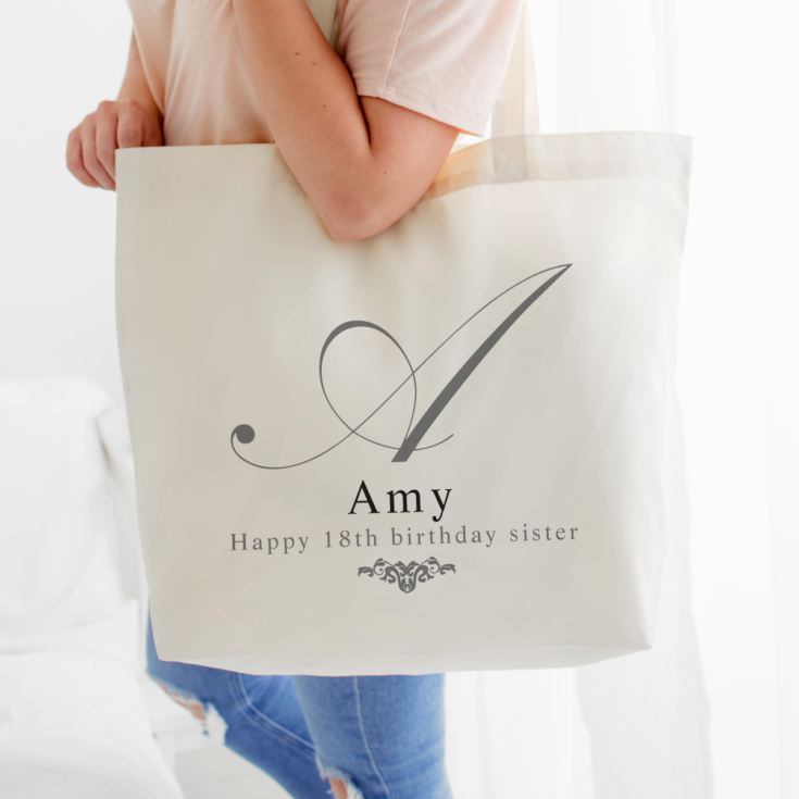 Personalised Initial Shoulder Tote Bag product image