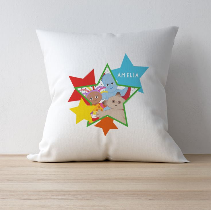 Personalised In The Night Garden Star Cushion product image
