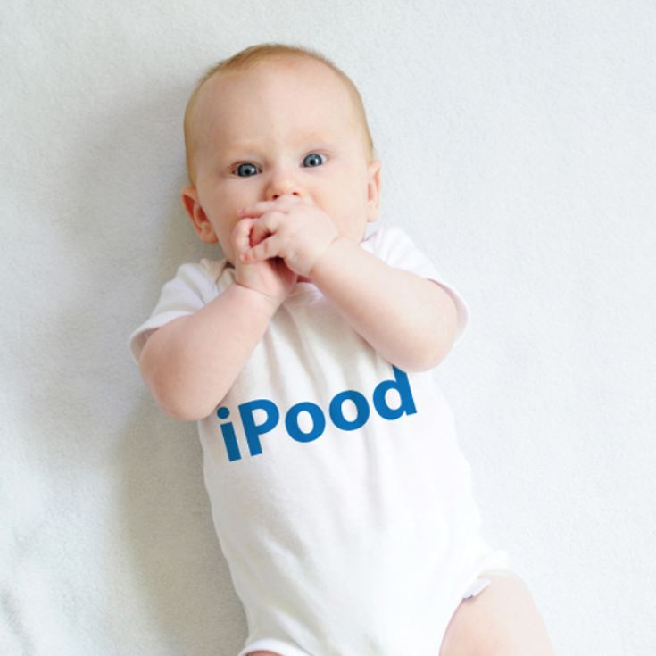 Personalised iPood Baby Grow product image