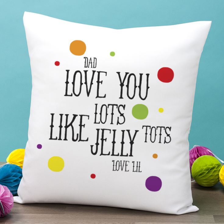Personalised Jelly Tots Cushion product image