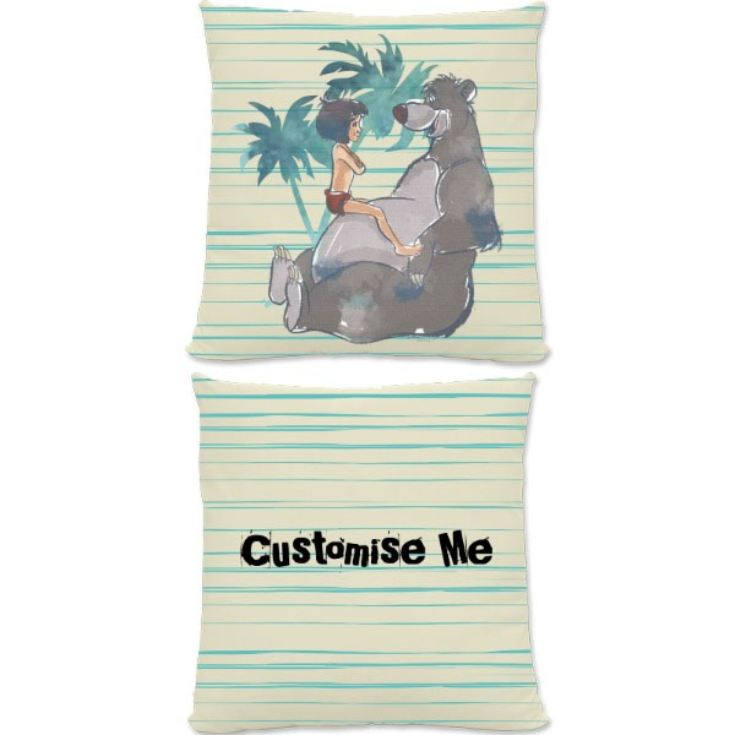 Personalised Disney The Jungle Book Baloo And Mowgli Cream Large Cushion product image