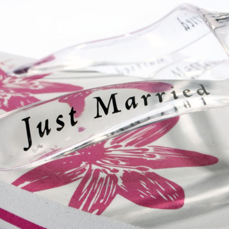 Just Married Flip Flops for Her product image