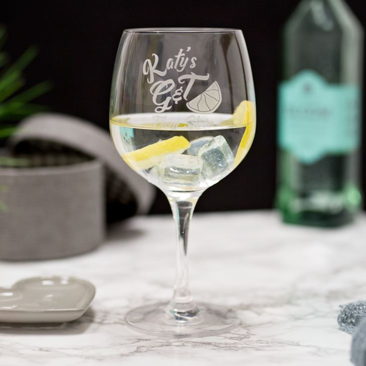 Personalised Name G&T Glass product image