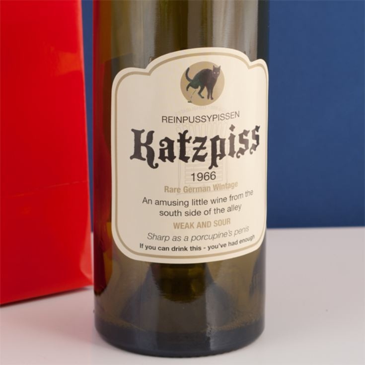 Katzpiss Wine Bag and Bottle Label product image
