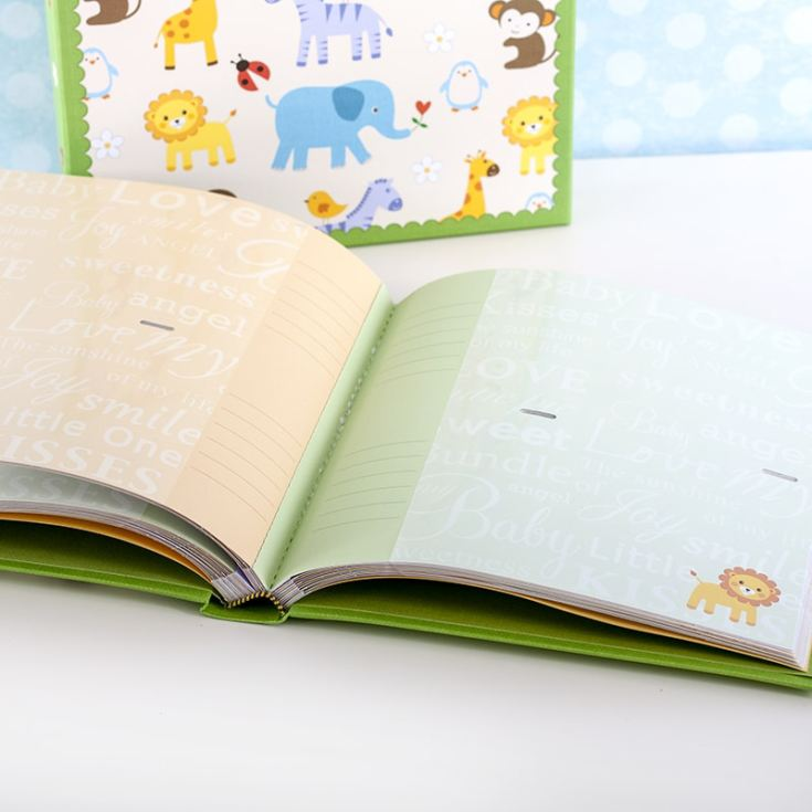 Baby Boys Zoo Photo Album With Keepsake Box product image