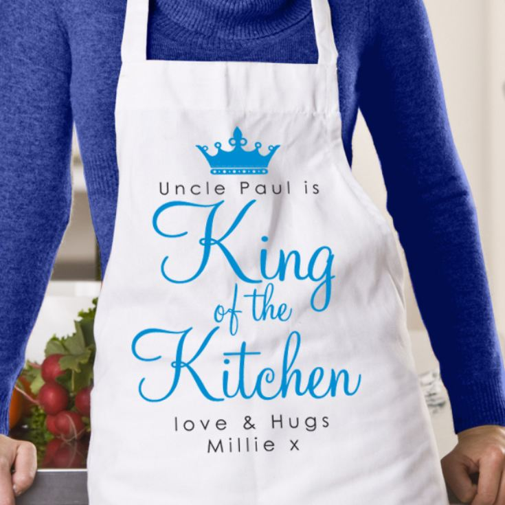 Personalised King Of The Kitchen Apron product image