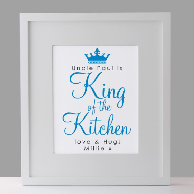 Personalised King of Kitchen Framed Print product image