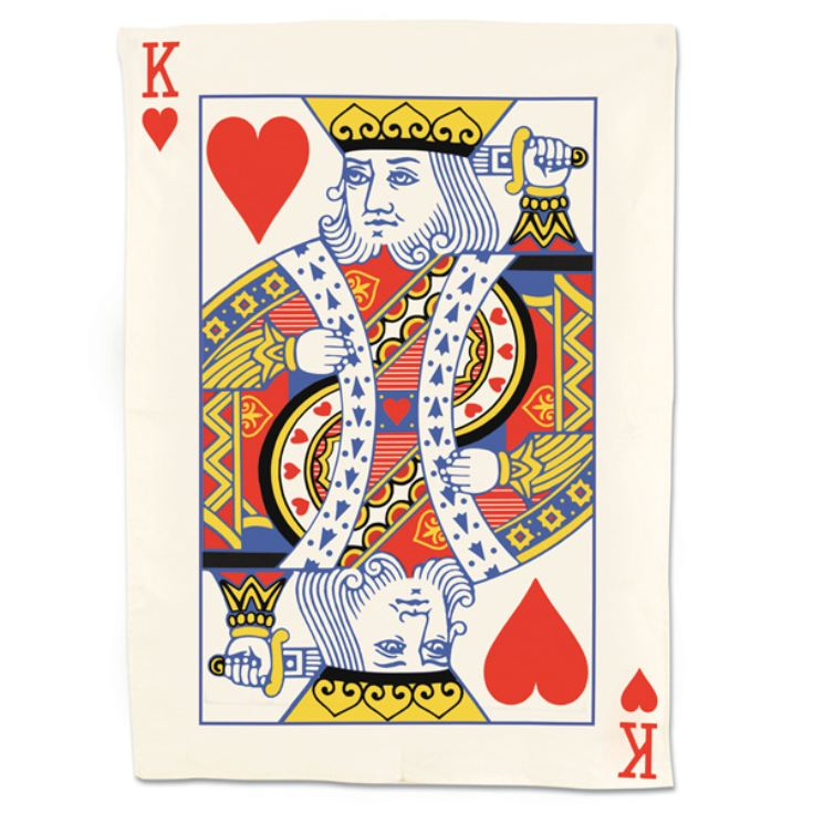 King Of Hearts Playing Card Tea Towel product image