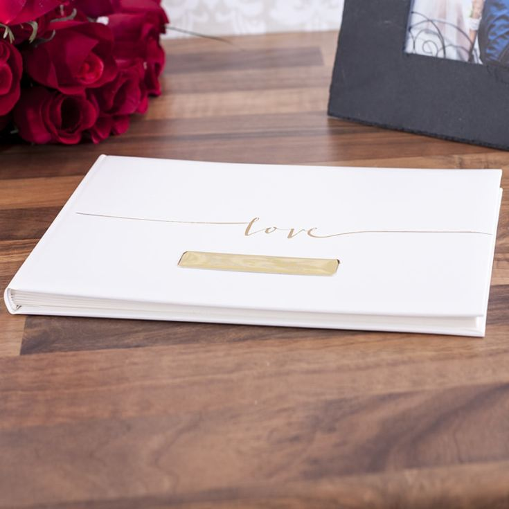 Personalised Contemporary Love Design Guest Book product image