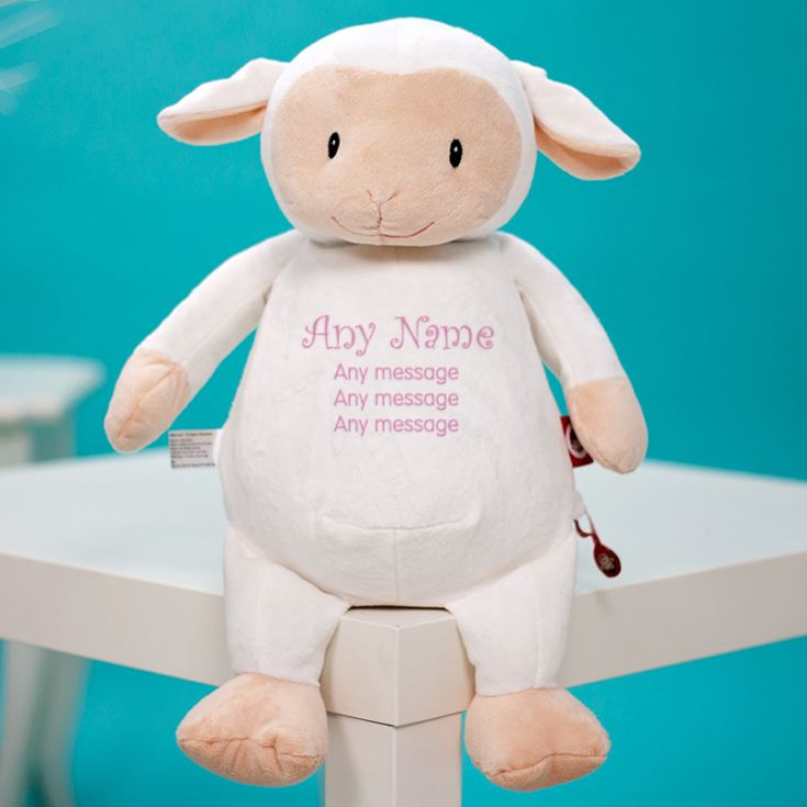 Personalised Embroidered Cubbies Lamb Soft Toy product image