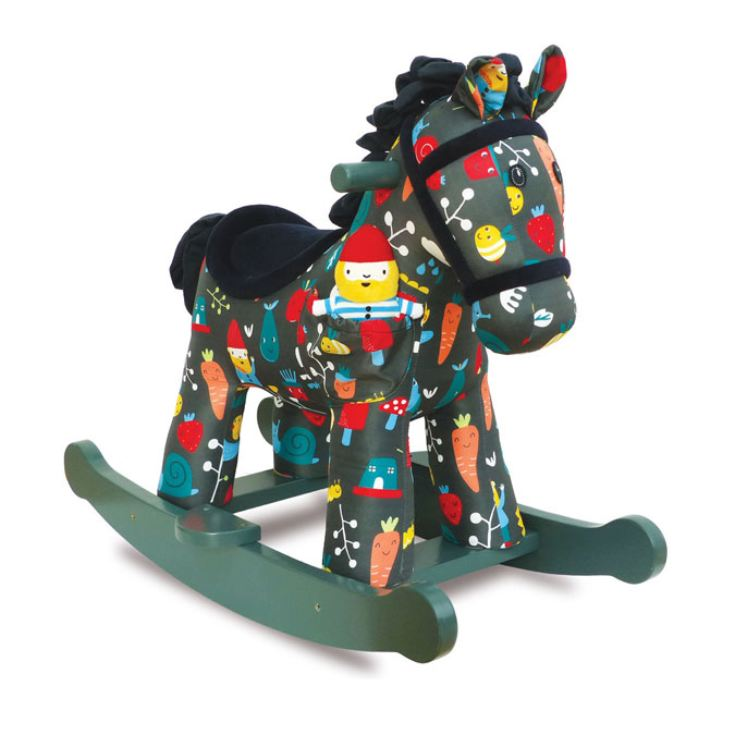 Personalised Rocket & Bud Rocking Horse 9 Months + product image