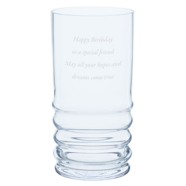 Dartington Personalised Wibble Hurricane Candle Holder product image