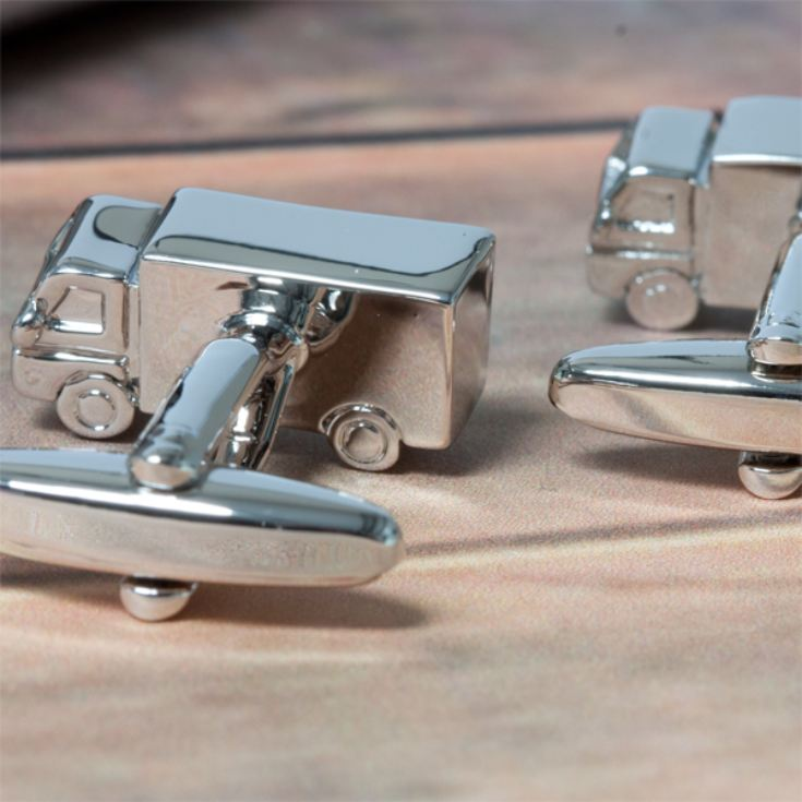 Personalised Lorry Cufflinks product image