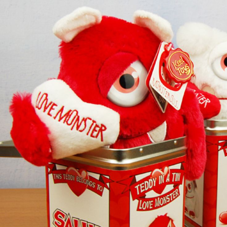 Teddy Tins - Personalised Love Monster product image