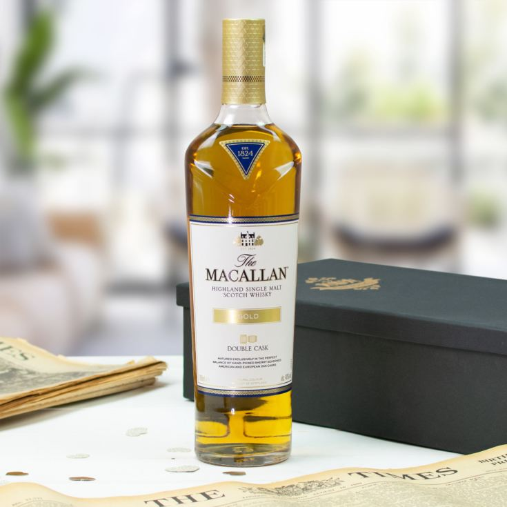 Macallan Double Cask Gold Whisky and Original Newspaper product image