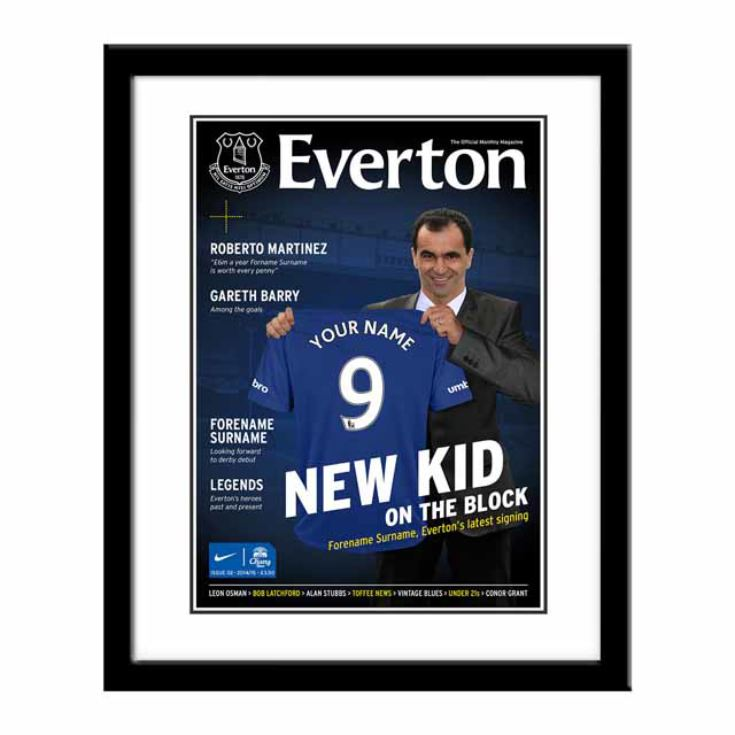 Personalised Football Team Magazine Cover - Framed product image