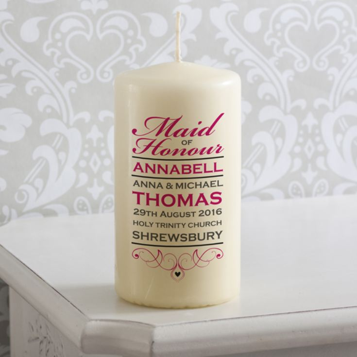 Personalised Maid Of Honour Candle product image