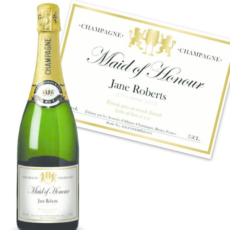 Maid of Honour Personalised Champagne product image