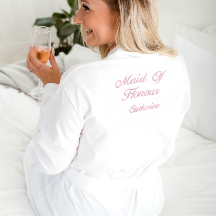 Personalised Embroidered Maid Of Honour Dressing Gown product image