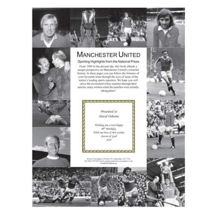 Personalised Manchester United Football Book product image